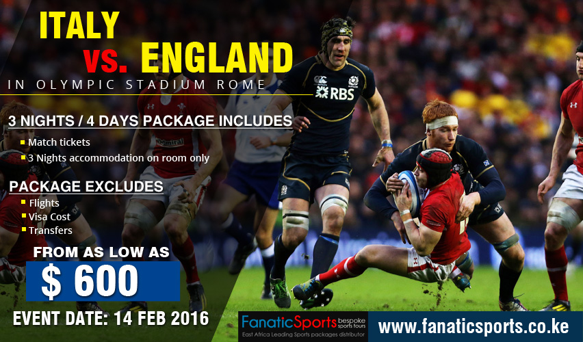 Italy vs England Rugby 6 Nations 2016