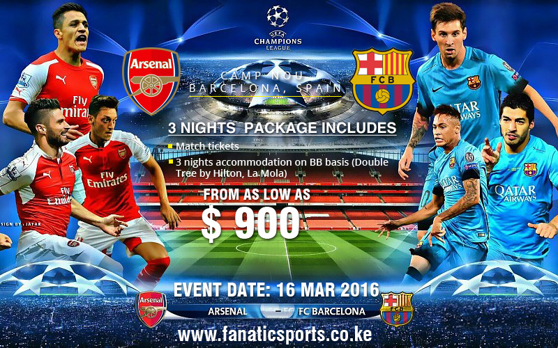 Arsenal VS Barcelona March 2016 Champions League