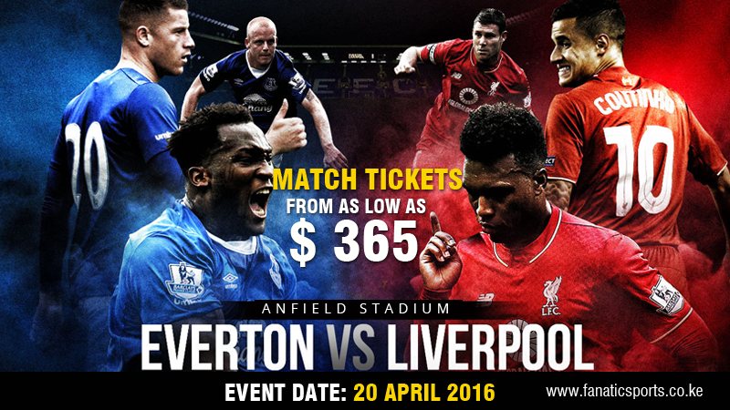 Liverpool vs Everton 2016 Premier league tickets