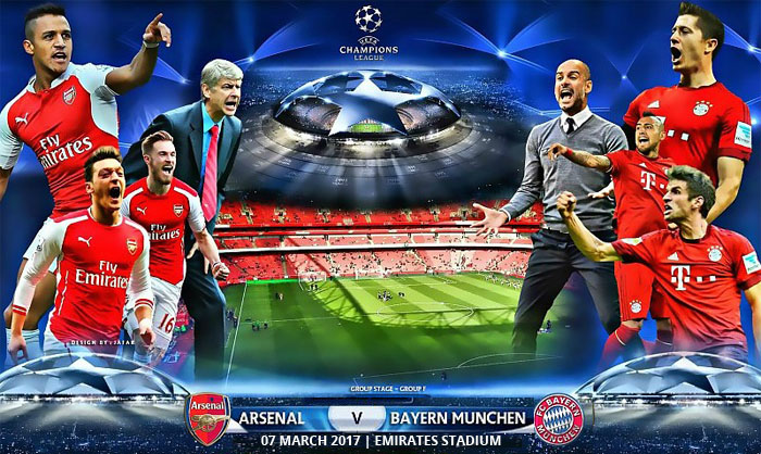 ARSENAL vs BAYERN MUNICH CHAMPION'S LEAGUE tickets