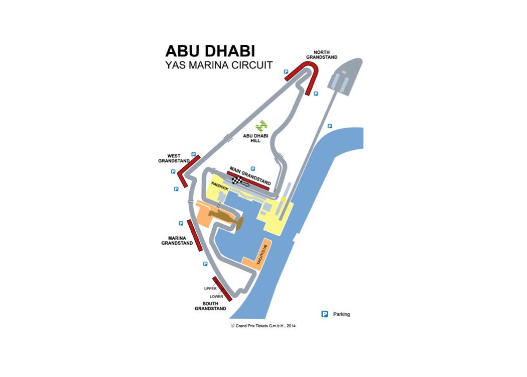 2018 Formula 1 Abu Dhabi Grand Prix Circuit Diagrams